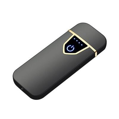 USB Lichtwellen Feuerzeug inkl. Micro USB Kabel und Geschenkbox (Farbe Schwarz)