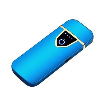 USB Lichtwellen Feuerzeug inkl. Micro USB Kabel und Geschenkbox (Farbe Blau)