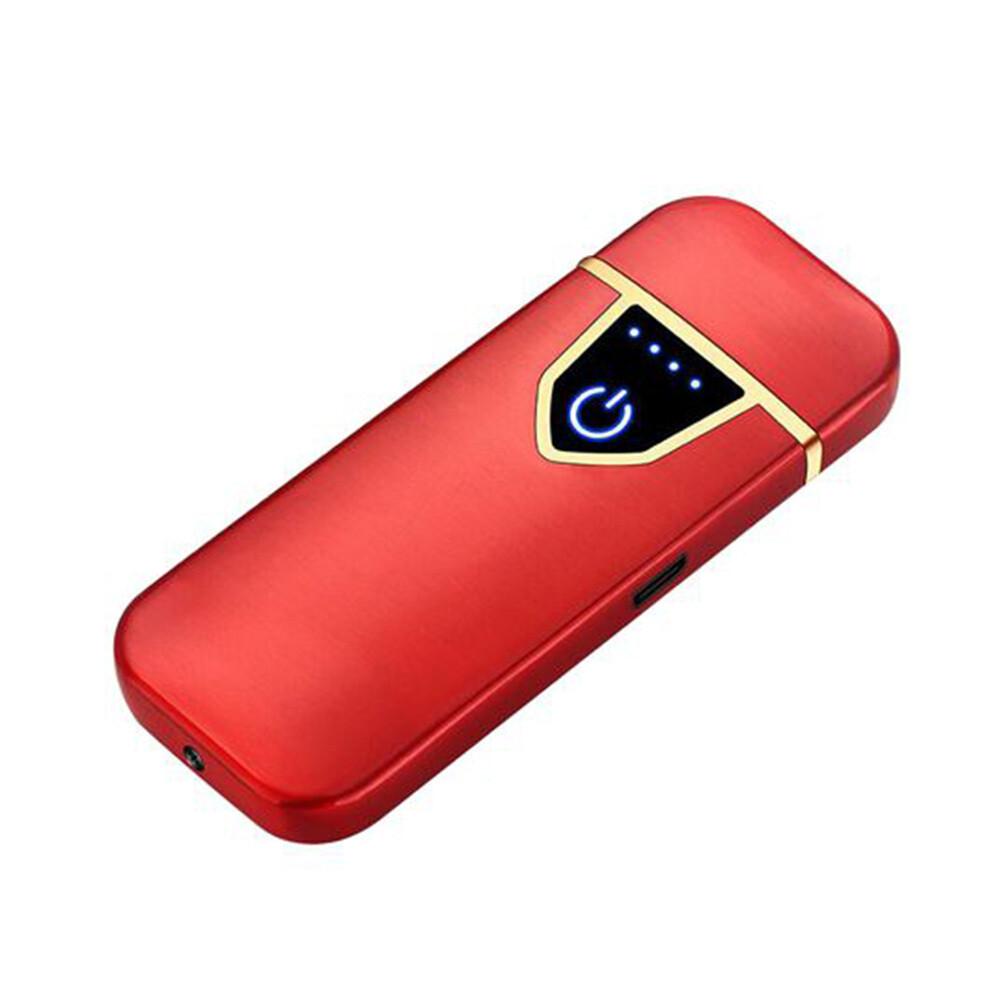 USB Lichtwellen Feuerzeug inkl. Micro USB Kabel und Geschenkbox (Farbe Rot)