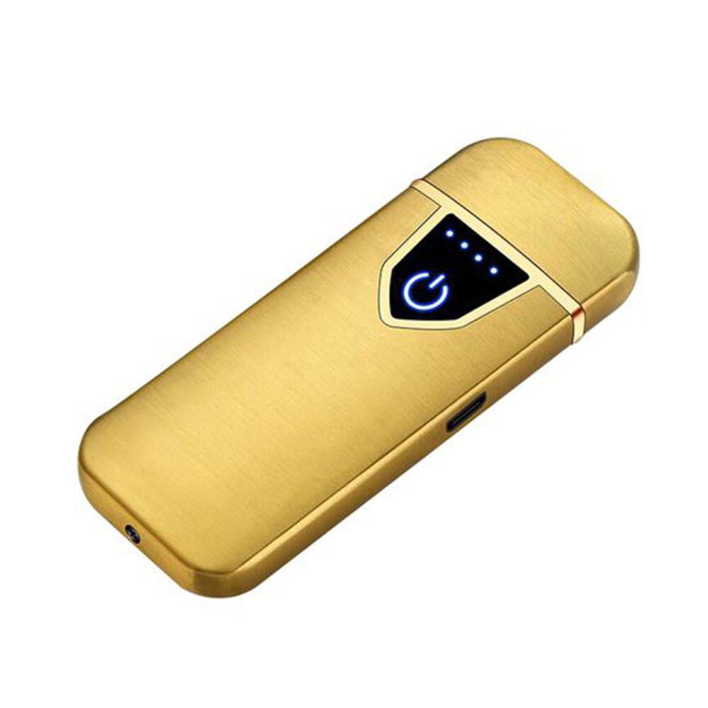 USB Lichtwellen Feuerzeug inkl. Micro USB Kabel und Geschenkbox (Farbe Gold)