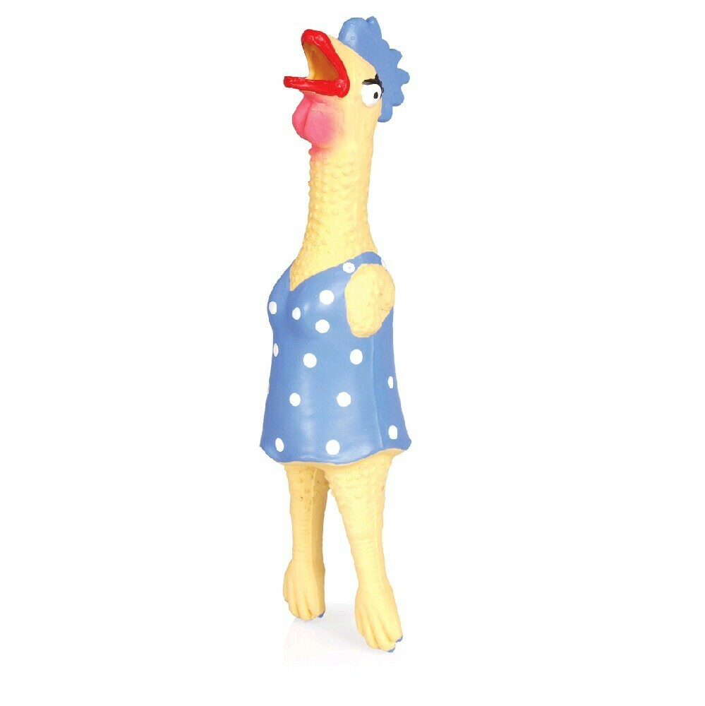CHICKEN IN BLUE SWIMSUIT, 30cm NON TOXIC