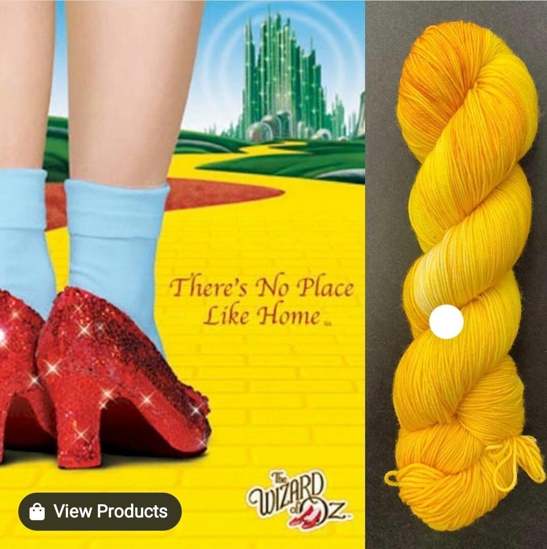 GL Sock Yellow Brick Road