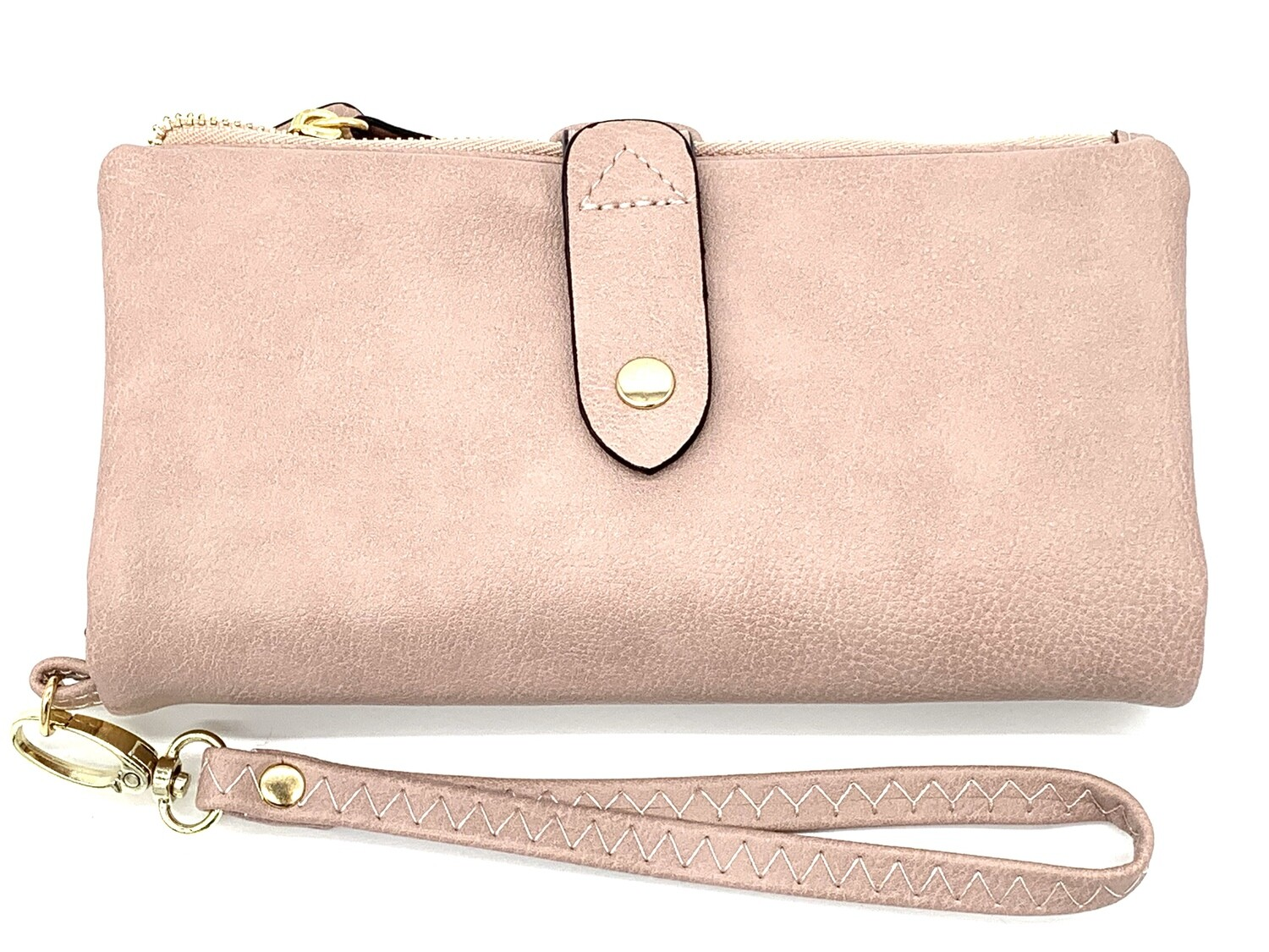 5268 Cell Phone Wristlet/Wallet dk pink