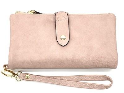 5268 Cell Phone Wristlet/Wallet dk pink