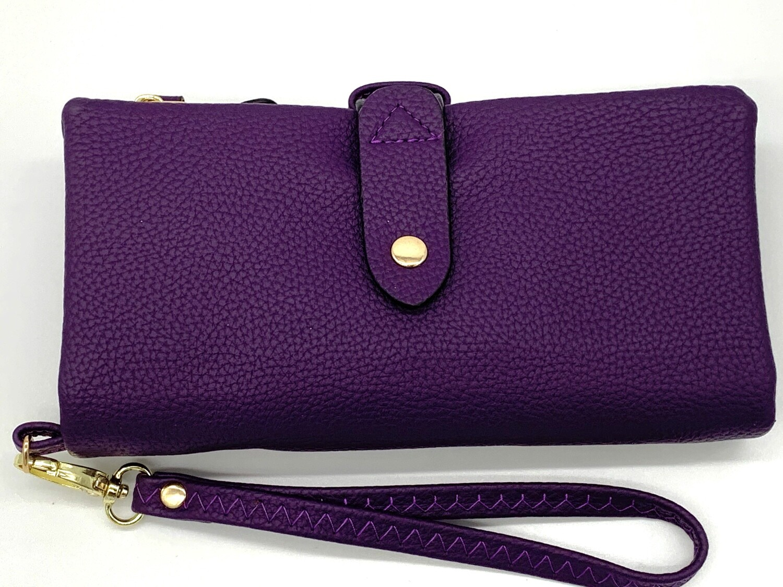 5268 Cell Phone Wristlet/Wallet purple