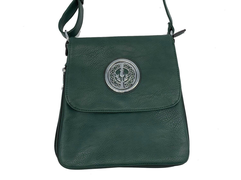 503 Expandale Zip Around Bag  hunter green