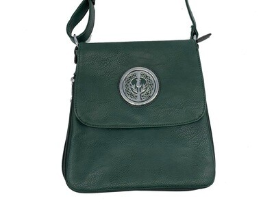 503 Expandale Zip Around Bag  hunter green