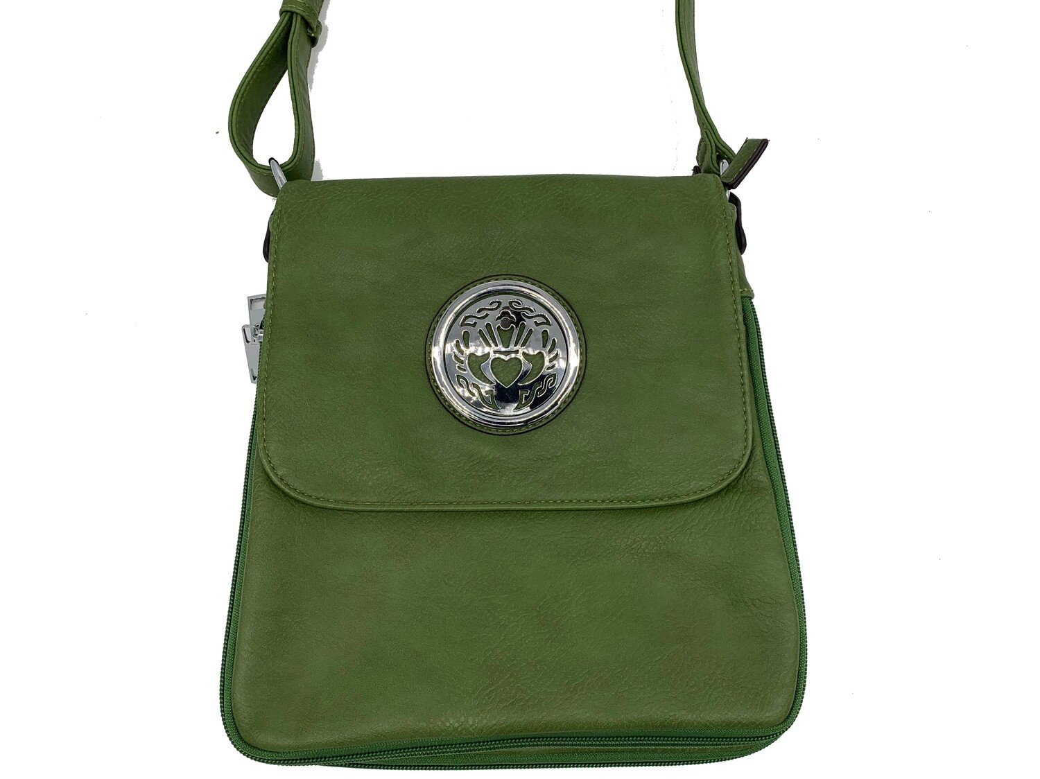 503 Expandale Zip Around Bag  olive green