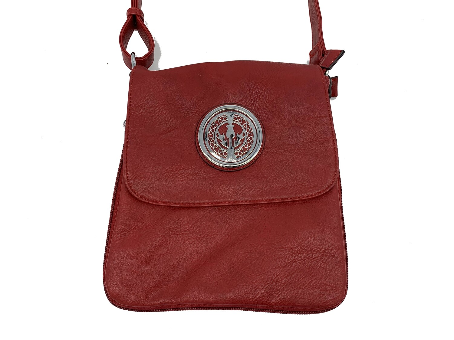 503 Expandale Zip Around Bag  red