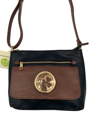 155 Two Tone Pocket Bag Black