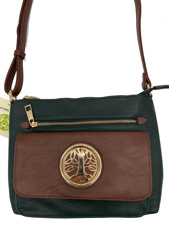 155 Two Tone Pocket Bag Hunter Green