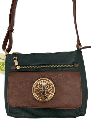 155 Two Tone Pocket Bag Hunter Green
