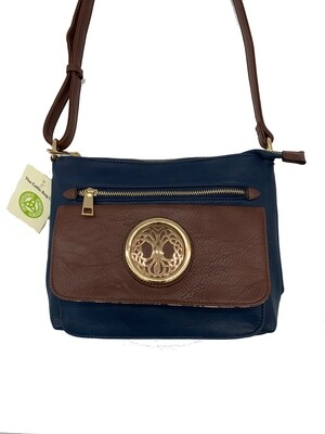 155 Two Tone Pocket Bag Navy