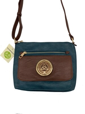 155 Two Tone Pocket Bag Teal