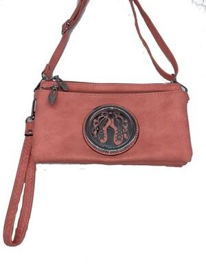 7519 Tri Zip Cell Phone Bag blush