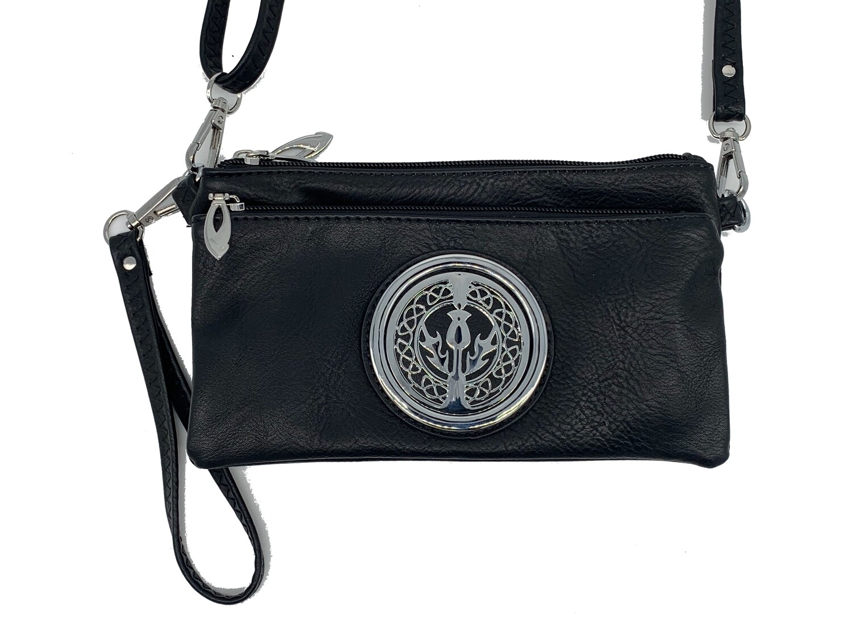 7519 Tri Zip Cell Phone Bag black