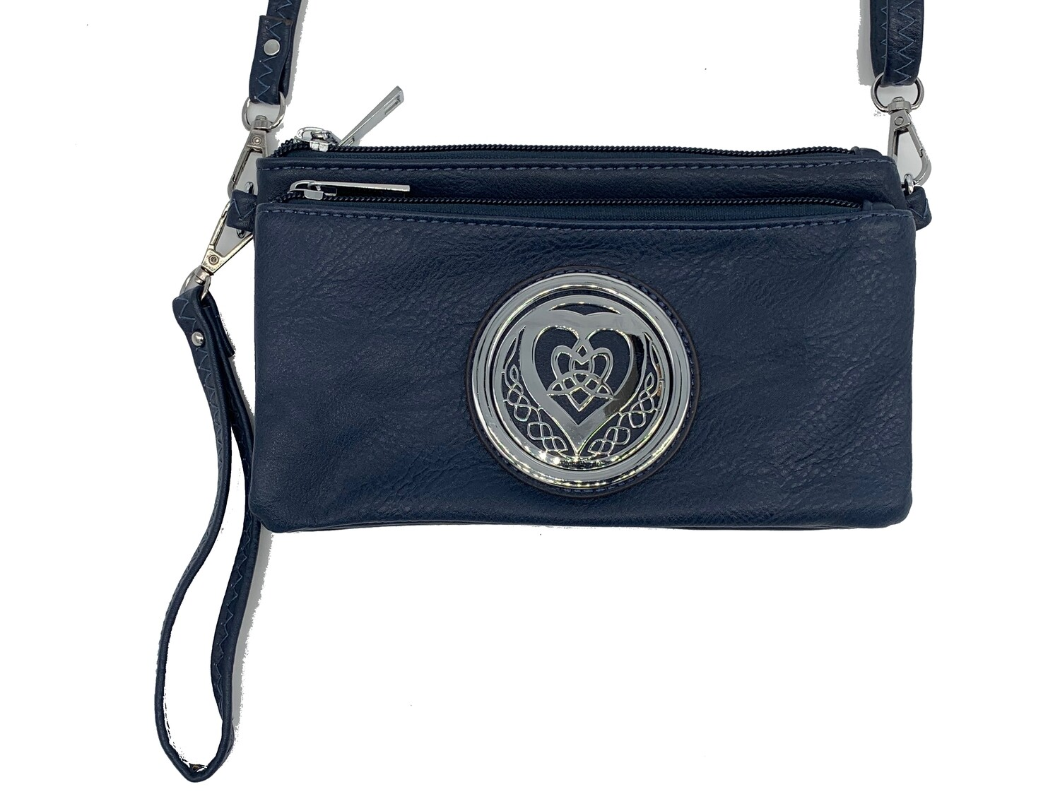 7519 Tri Zip Cell Phone Bag navy