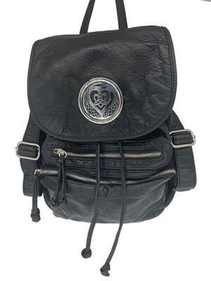 19296 Washed Back Pack black