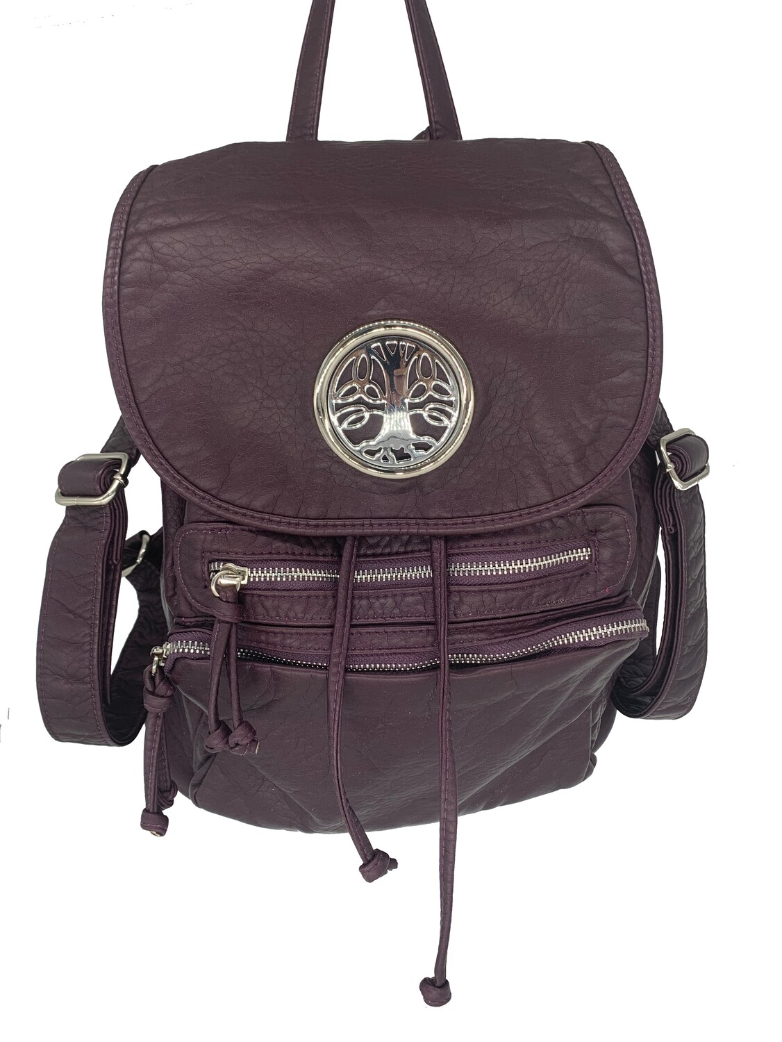 19296 Washed Back Pack purple