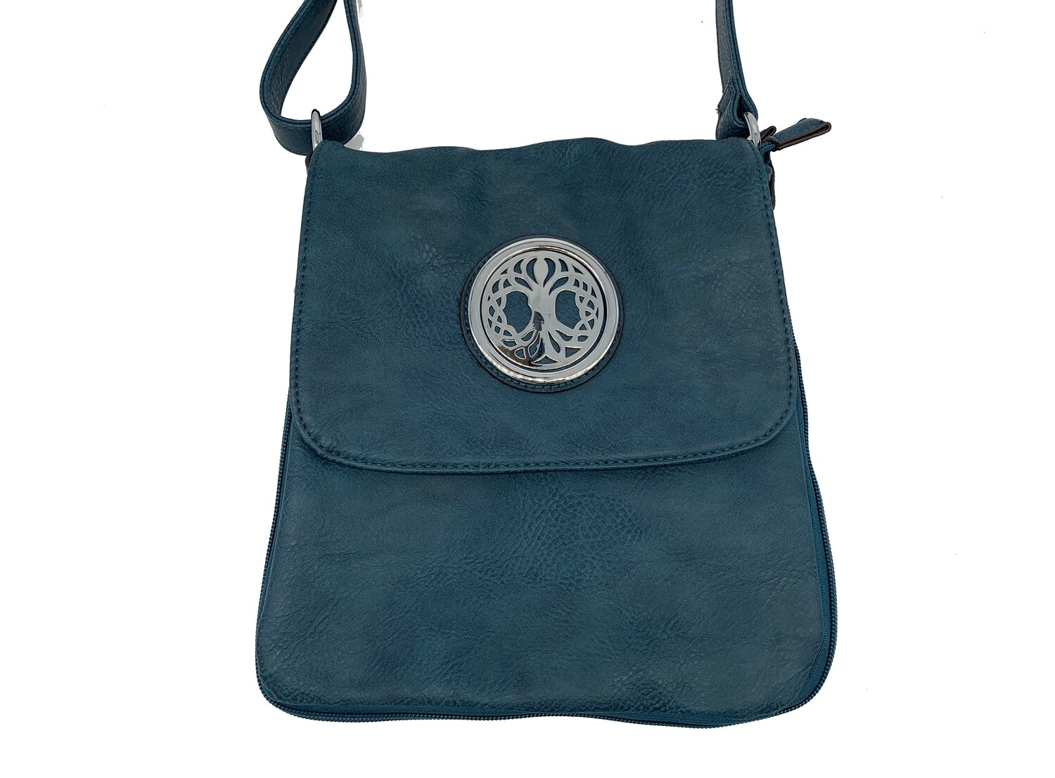 503 Expandale Zip Around Bag  teal
