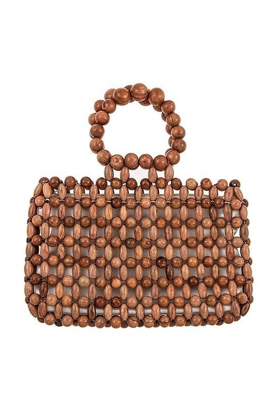Exclusive Farfetch Wooden Bead Handbag