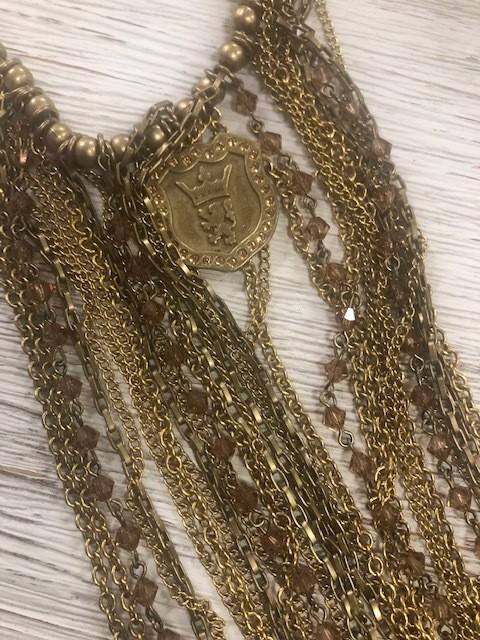 Sisilia Rainchain Brass Necklace