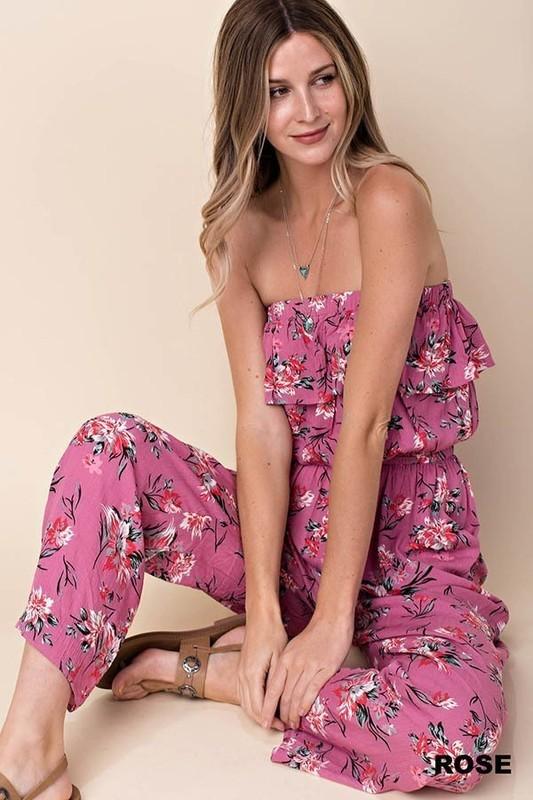 ROSE' Floral Jumpsuit