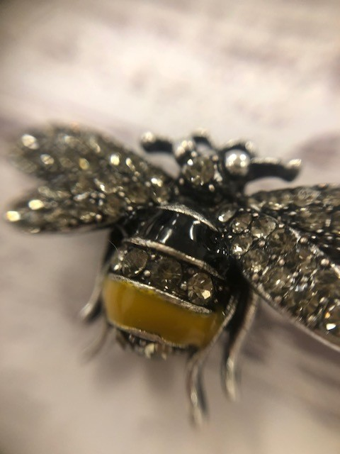 Mini Black and Hello Bee Pin