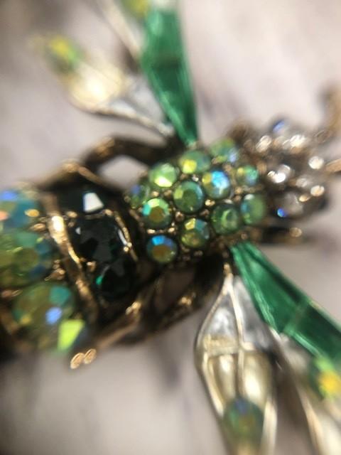 Green Hornet Bee Pin