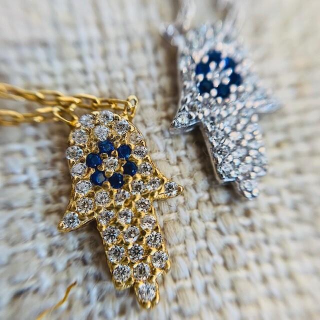 Thin Hamsa Necklace