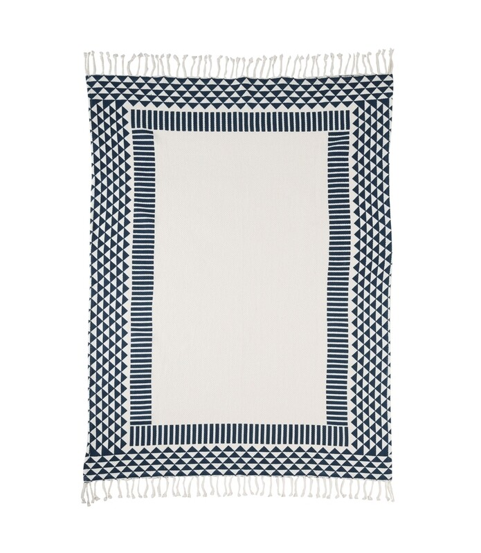 Navy Geo Sturdy Beach Blanket