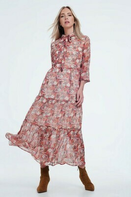 Floral Layered Midi Dress