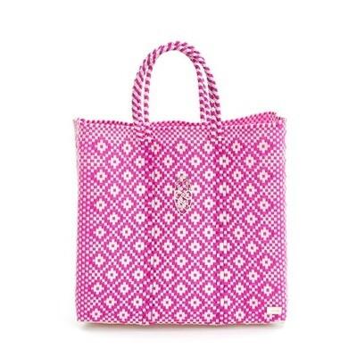 Oaxaca Wa-Ha-Ca Pink/White Tote Bag
