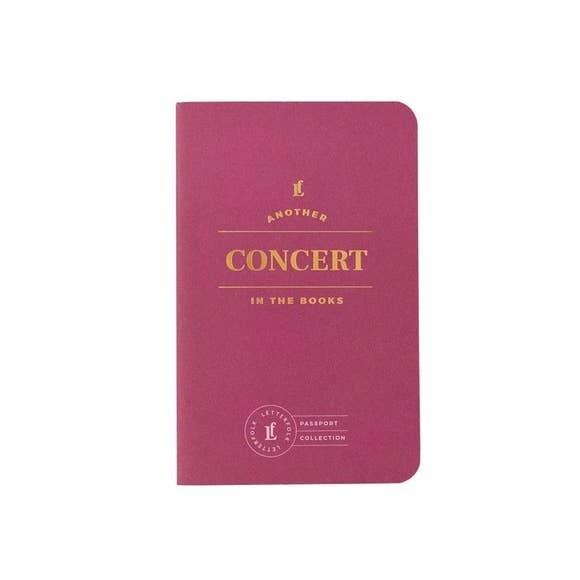 Concert Passport Journal