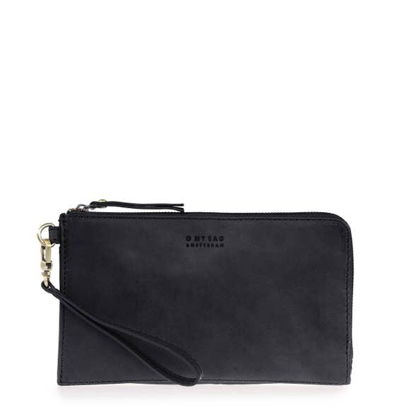 Classic Travel Wallet Black Leather