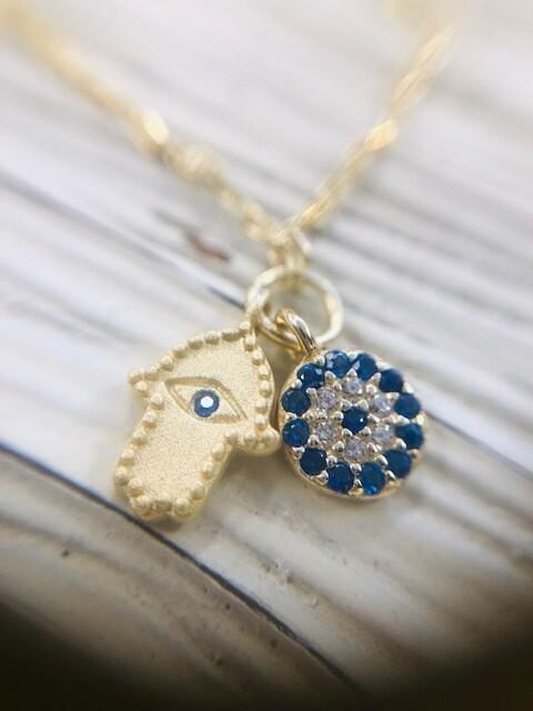 Blue Mini Hamsa& EE