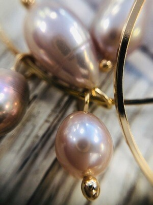 South Sea Pearl Hoop Earrings