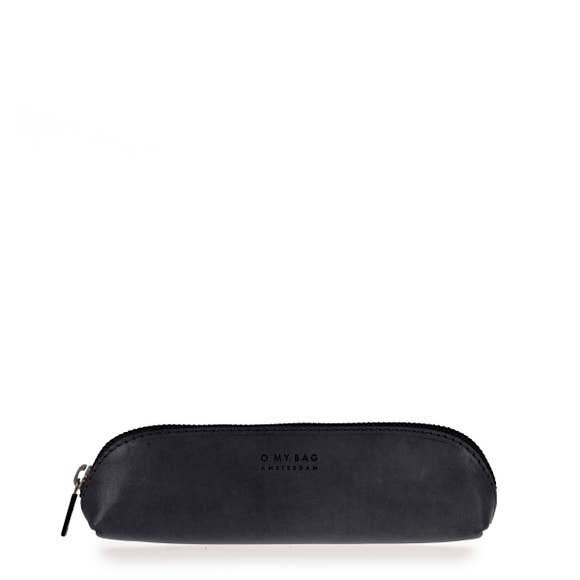 Black Leather Pencil Case