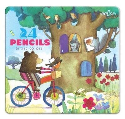 Bear on a Bike Color Pencils