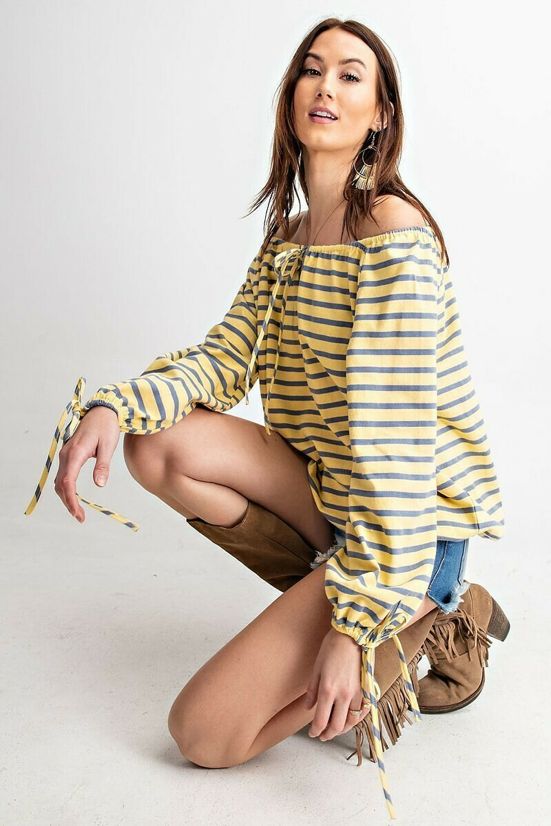 Striped Canary Loosefit Top