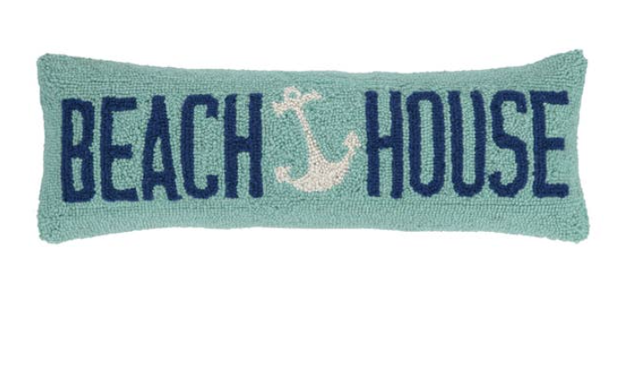 Beach House Anchor Pillow