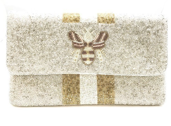 Gold Bee Clutch