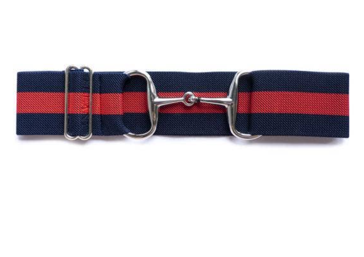 Navy & Red Snaffle Buckle Belt