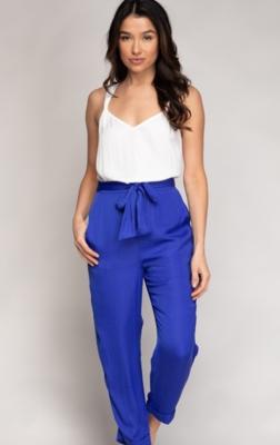 Capri Blue Summer Colour Pant