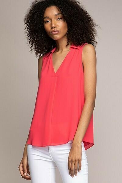 Watermelon Colour Sleeveless top