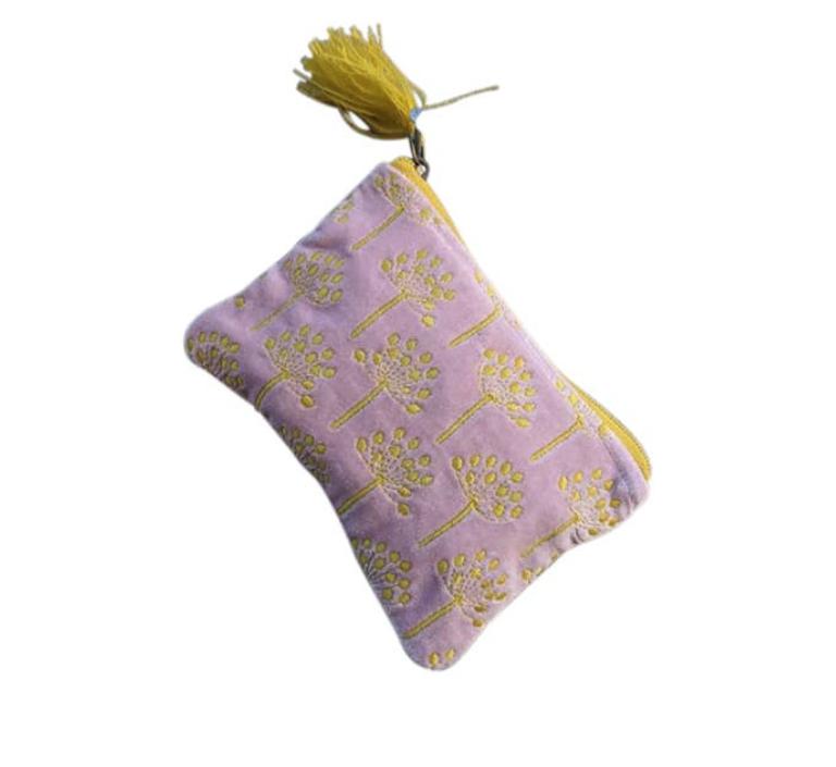 Purple dandelion Coin Pouch