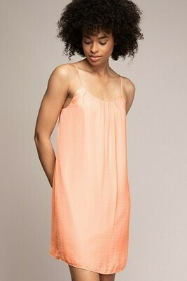 Strappy Cantelope Colour Dress