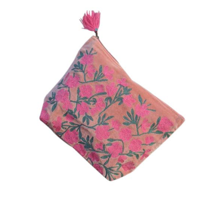 Coralie Flowered Pouch