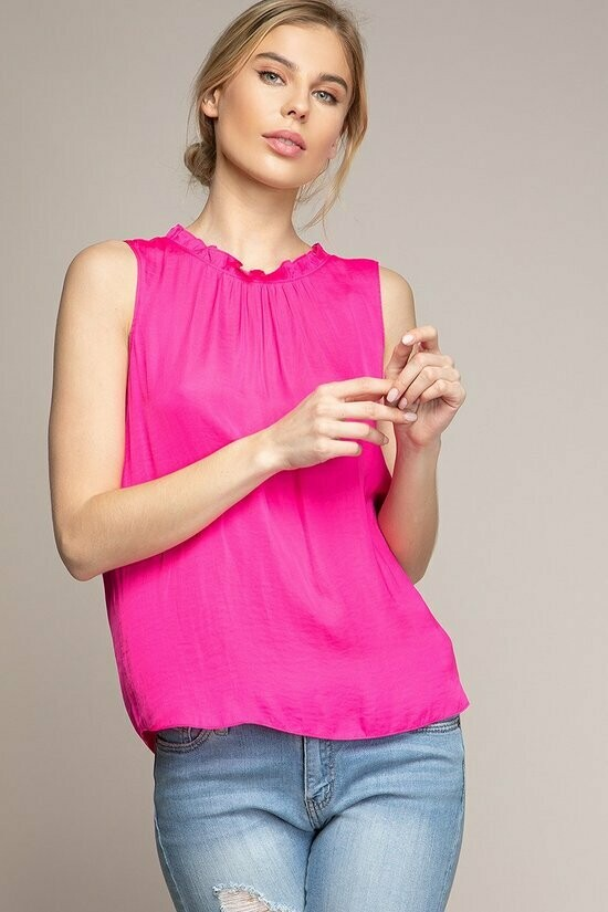 Pink Sleeveless Summer Top