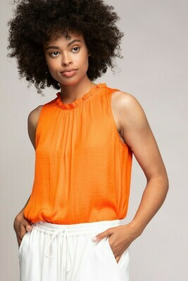 Tangerine Sleeveless Top